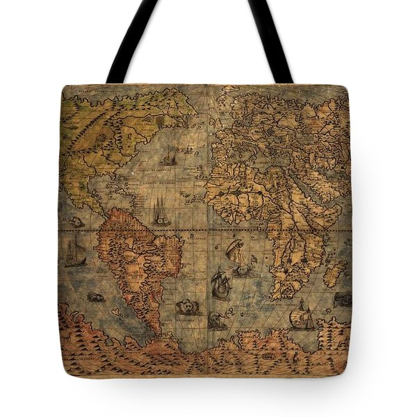 Old World Map Tote Bag by Dan Sproul