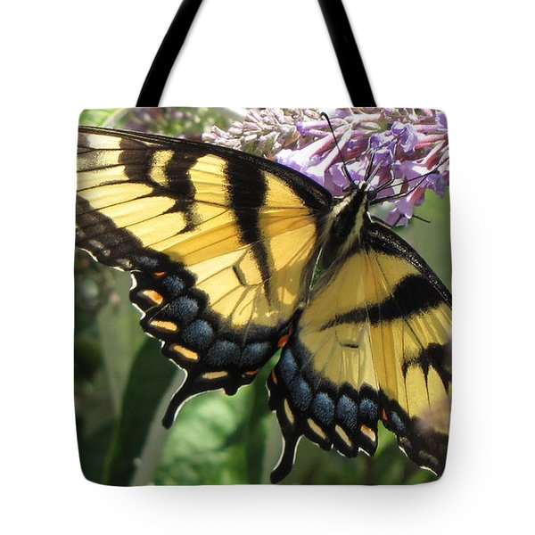Tote Bag featuring the photograph Old World Swallowtail by Jennifer Wheatley Wolf
