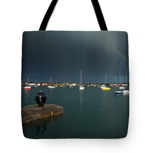 Old World War Two Mine And Rainbow, The Tote Bag