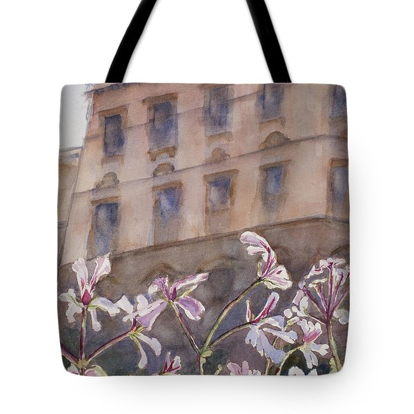 Old World Windowbox Tote Bag by Mary Benke