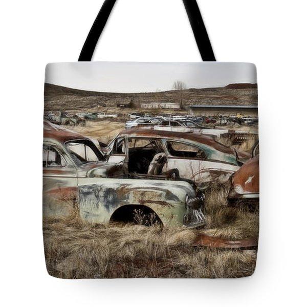 Old Wrecks Tote Bag