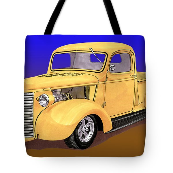 Old Yeller Pickem Up Truck Tote Bag by Jack Pumphrey