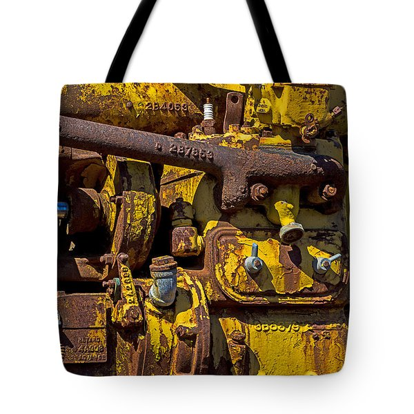Old Yellow Motor Tote Bag by Garry Gay