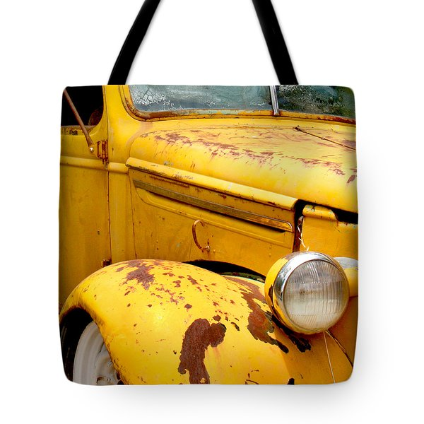 Old Yellow Truck Tote Bag by Art Block Collections