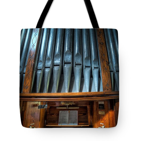 Tote Bag featuring the photograph Olde Church Organ by Adrian Evans
