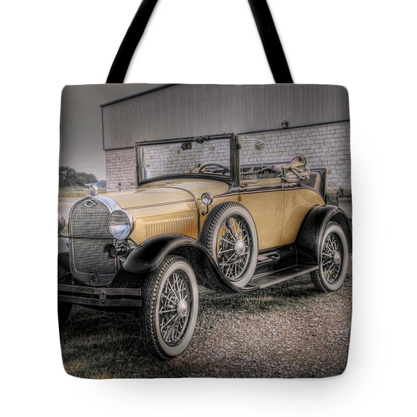Tote Bag featuring the photograph Old Ford Model A Coupe by Dyle   Warren