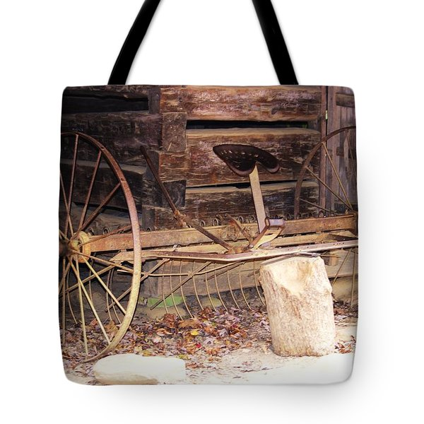 Tote Bag featuring the photograph Ole Wheely by Faith Williams