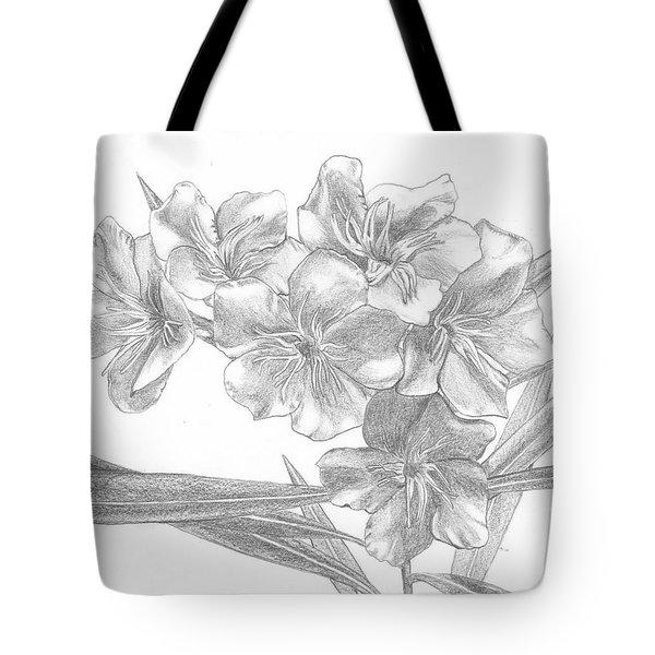Oleander Tote Bag by Lew Davis