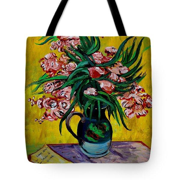 Oleanders Tote Bag by Karon Melillo DeVega