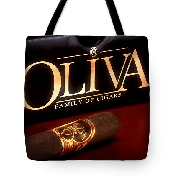 Oliva Cigar Still Life Tote Bag by Tom Mc Nemar