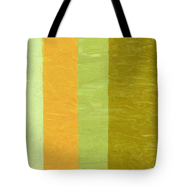 Olive And Peach Tote Bag by Michelle Calkins