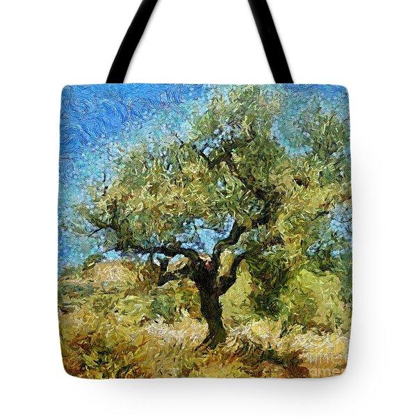 Olive Tree On Van Gogh Manner Tote Bag