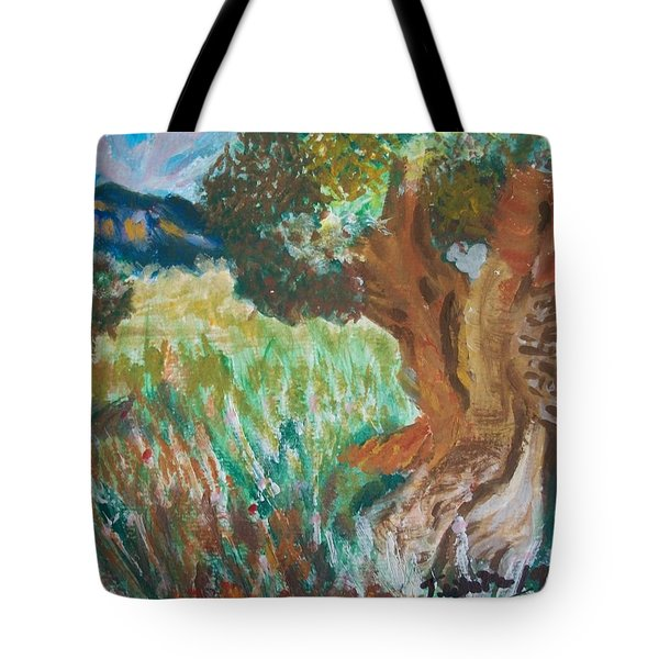 Tote Bag featuring the painting Olive Trees by Teresa White