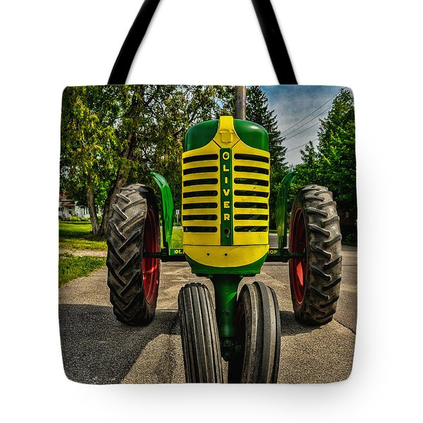 Tote Bag featuring the photograph Oliver Row Crop Ogdensburg Puller by Trey Foerster