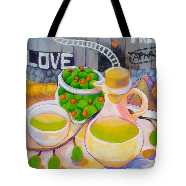 Olives Behind A Wall Tote Bag