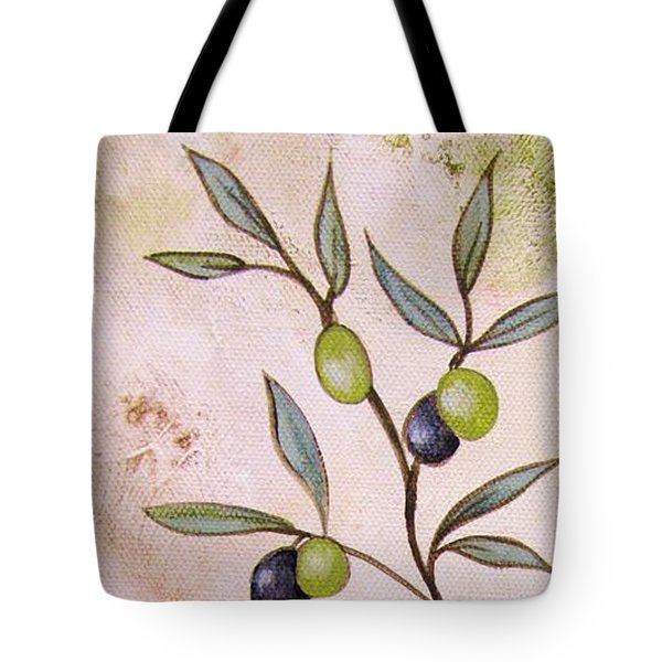 Olives Painting Tote Bag