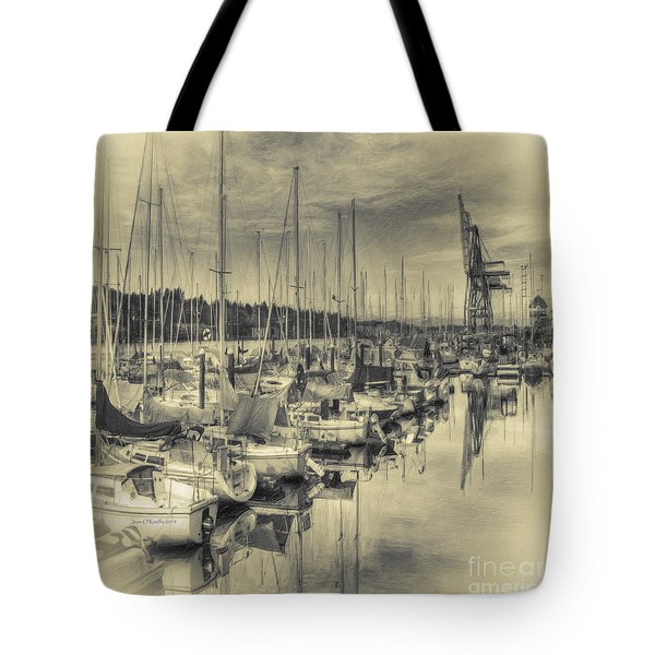 Tote Bag featuring the photograph Olympia Marina 3 by Jean OKeeffe Macro Abundance Art