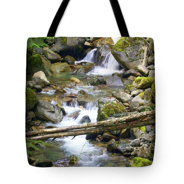 Olympic Range Stream Tote Bag by Marty Koch