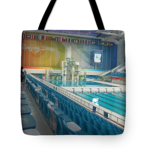 Tote Bag featuring the photograph Olympic Swimming Pool by Alfred Ng