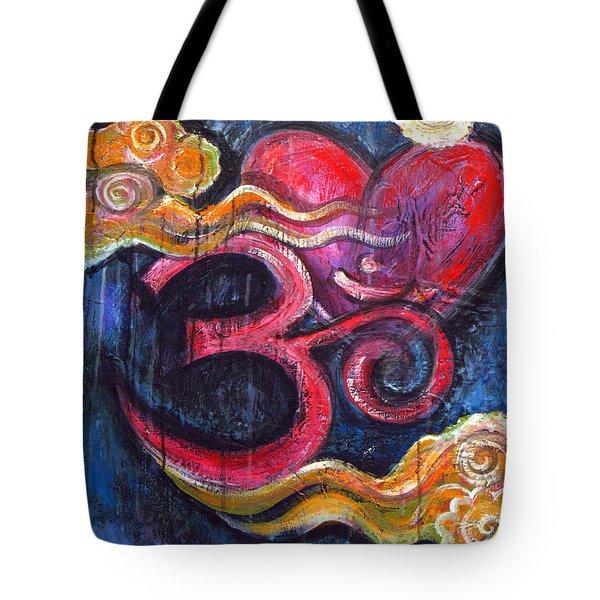 Om Heart Of Kindness Tote Bag
