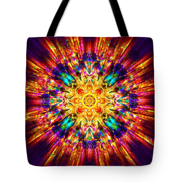 Tote Bag featuring the painting Om Mani Padme Hum by Jalai Lama