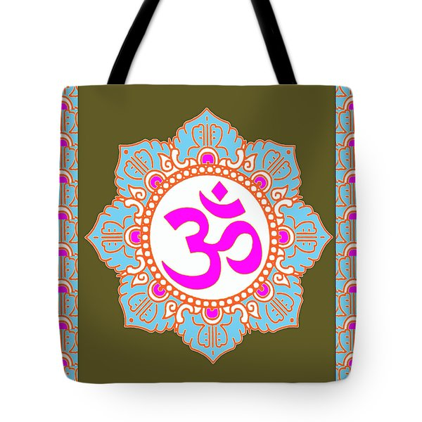Tote Bag featuring the photograph Om Mantra Ommantra 3 by Navin Joshi