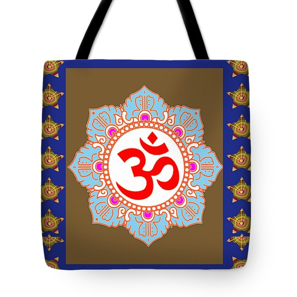 Tote Bag featuring the photograph Om Mantra Ommantra Chant Yoga Meditation Tool by Navin Joshi