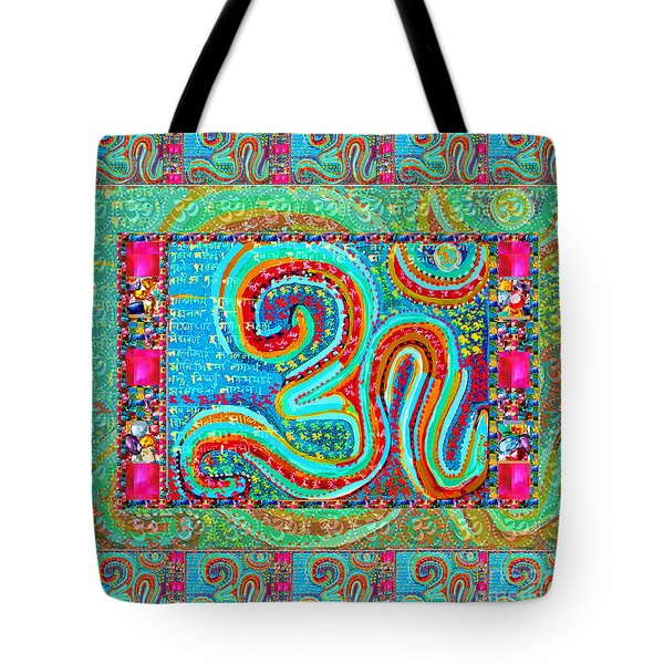 Om Mantra Ommantra Symbol Yoga Meditation Spiritual Work Tote Bag