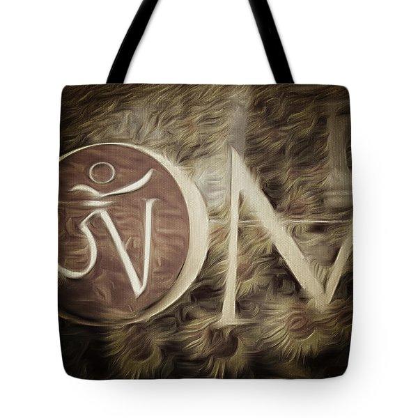 Om Sepia Tote Bag