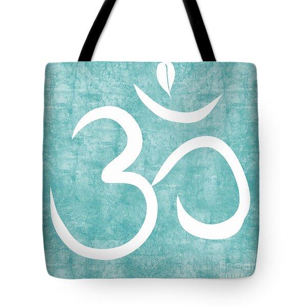 Om Sky Tote Bag by Linda Woods