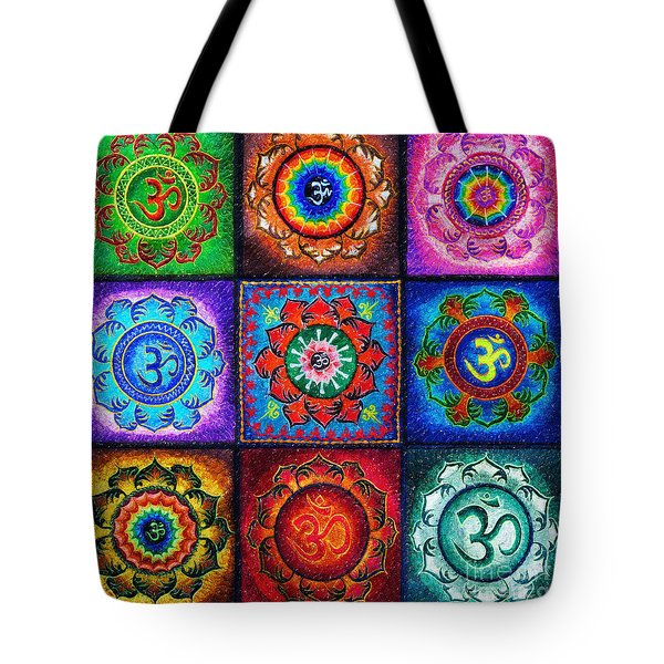 Om Squared Tote Bag by Tim Gainey