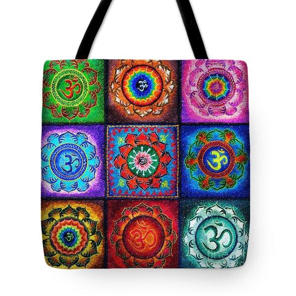 Om Squared Tote Bag
