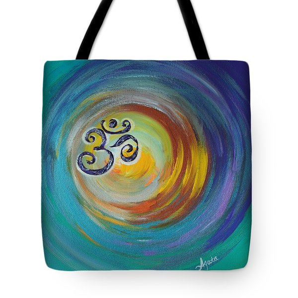 Tote Bag featuring the painting Om Vortex by Agata Lindquist