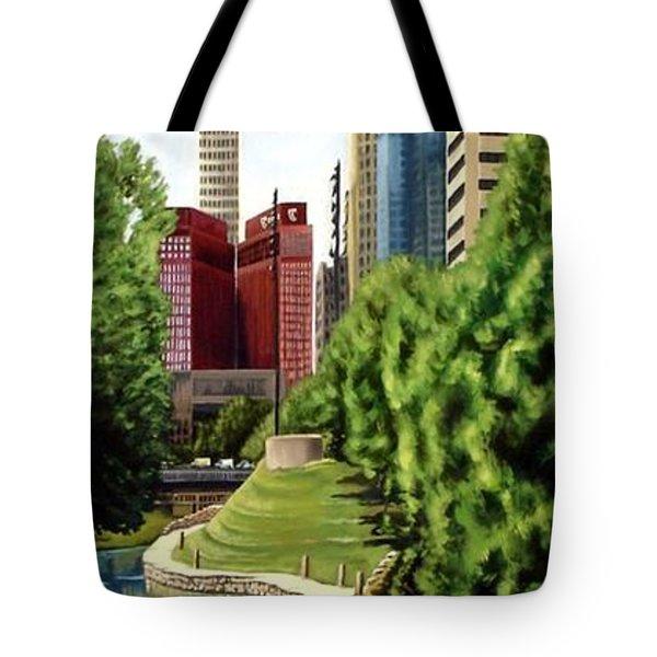 Omaha Skyline Tote Bag