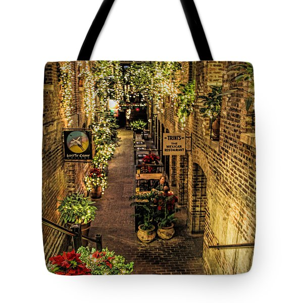 Omaha's Old Market Passageway Tote Bag by Elizabeth Winter