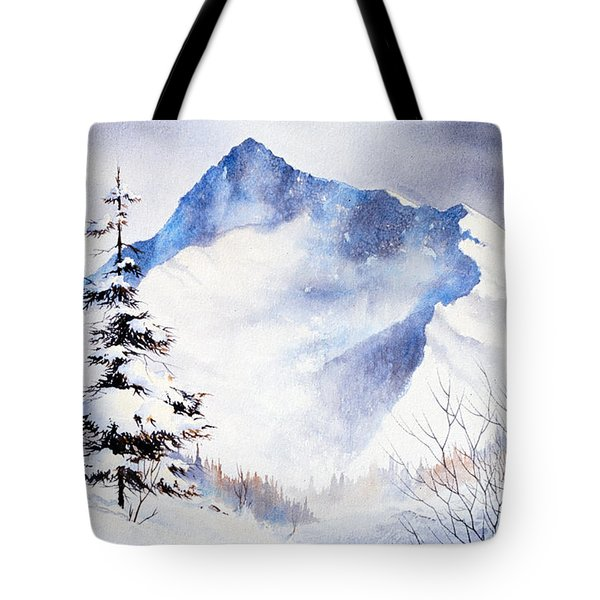 Tote Bag featuring the painting O'malley Peak by Teresa Ascone