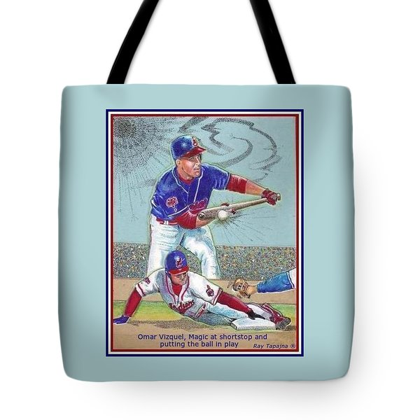 Omar Vizquel Shortstop Magic Tote Bag