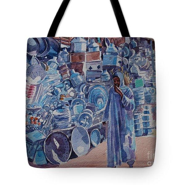 Omdurman Markit Tote Bag by Mohamed Fadul