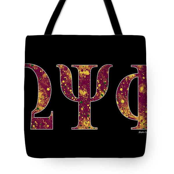 Omega Psi Phi - Black Tote Bag