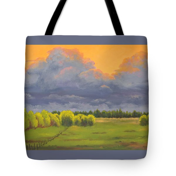 Ominous Forecast Tote Bag by Nancy Jolley