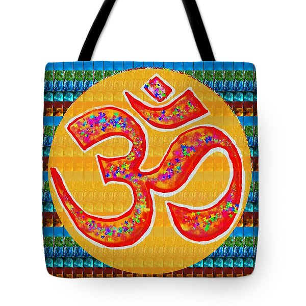 Ommantra Om Mantra Chant Yoga Meditation Spiritual Religion Sound  Navinjoshi  Rights Managed Images Tote Bag