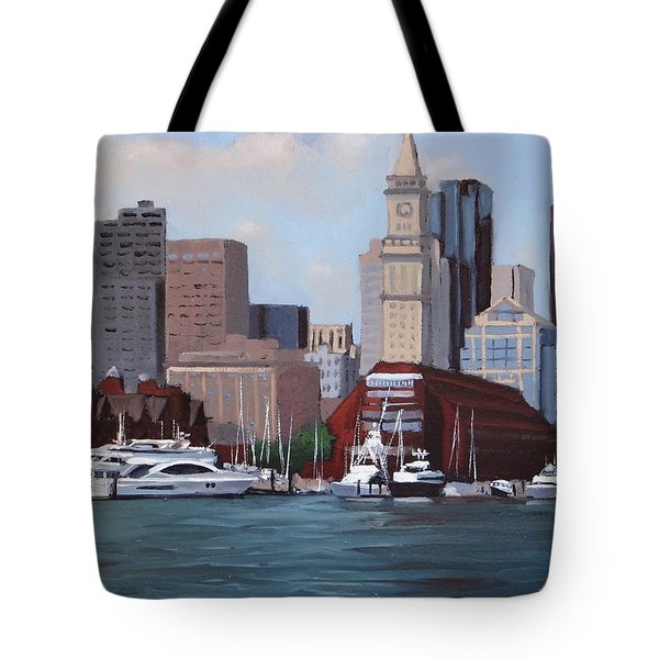 On A Clear Day Tote Bag by Laura Lee Zanghetti