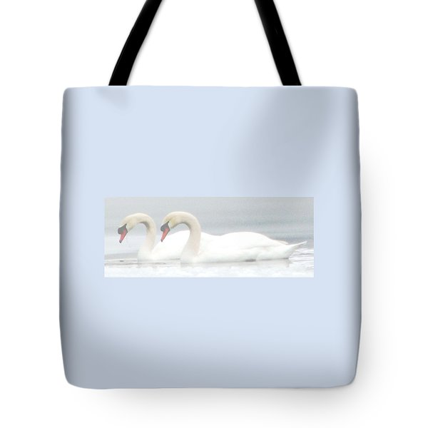 On A Misty Morning Tote Bag