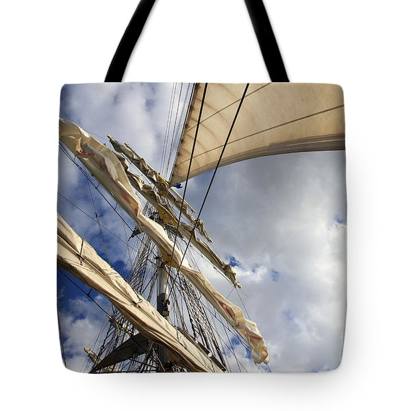 On A Sail Ship Tote Bag