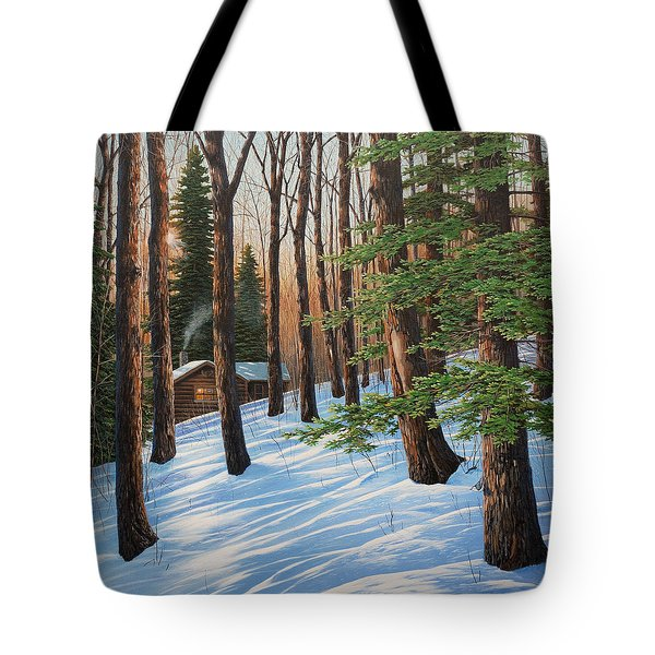 On A Winter's Morn Tote Bag
