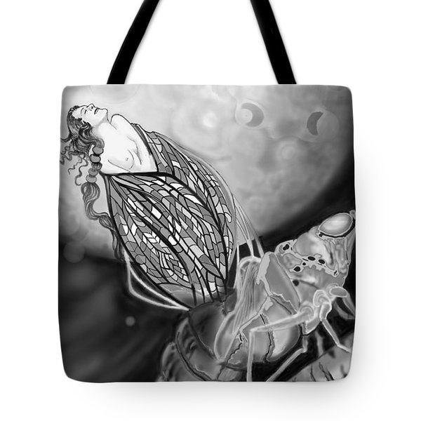 Tote Bag featuring the digital art On Becoming by Carol Jacobs