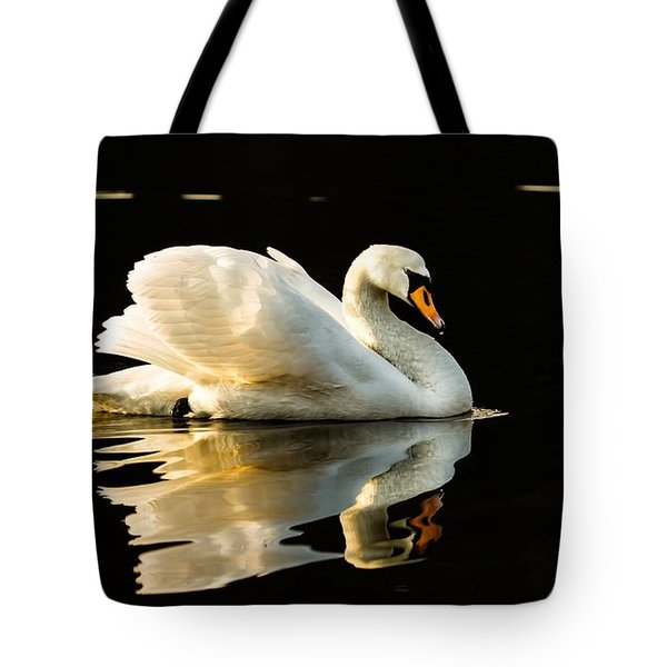 Tote Bag featuring the photograph On Calm Water by Rose-Maries Pictures