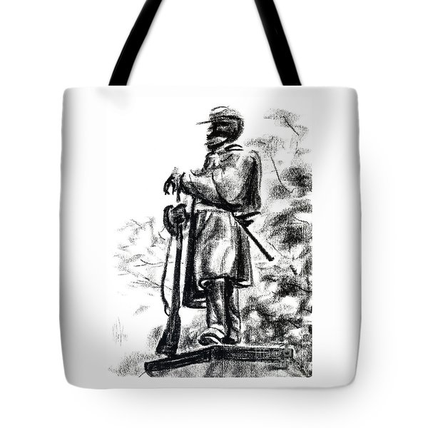 On Duty In Brigadoon  No Ch101 Tote Bag