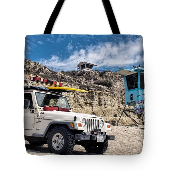 On Duty Tote Bag by Peggy Hughes