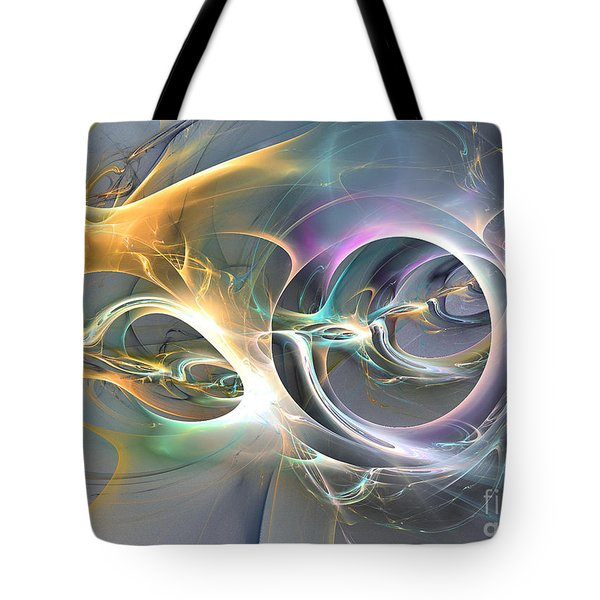 On Fire - Abstract Art Tote Bag